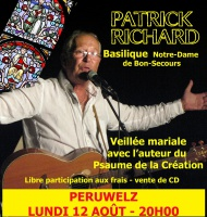 Le chanteur Patrick Richard à ND de Bonsecours